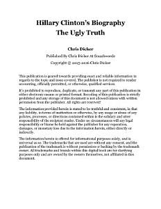 Hillary Clinton s Biography  The Ugly Truth Book