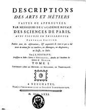Descriptions des arts et métiers: XIX, 673, [1 bl.] p., 10 f. de pl