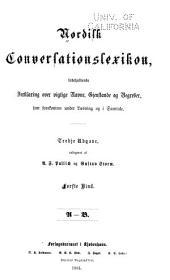 Nordisk conversationslexikon: indeholdende forklaring over vigtige navne, gjenstande og begreber, som forekomme under laesning og i samtale, Bind 1
