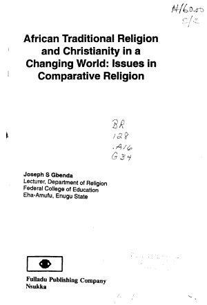 African Traditional Religion and Christianity in a Changing World PDF