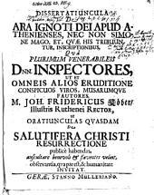Dissertatiuncula de ara ignoti dei apud Athenienses, nec non Simone Mago, et quae his tribuuntur, inscriptionibus