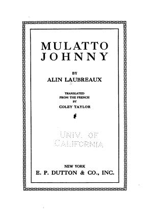 Mulatto Johnny