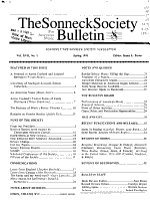 The Sonneck Society Bulletin