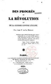Des Progrès de la Révolution et de la guerre contre l'Église