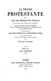 La France protestante ou vies des protestants français qui se sont fait un nom dans l'histoire: depuis les premiers temps de la réformation jusqu'à la reconnaissance du principe de la liberté des cultes par l'Assemblée Nationale blée Nationale. Nagel - Rosenstiel, Volume8