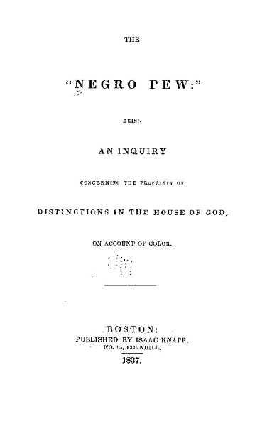 Download The  negro Pew  Book