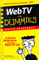 Web TV For Dummies Quick Reference PDF