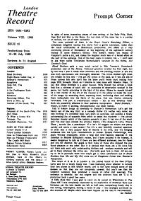 London Theatre Record PDF