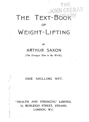 The Text-book of Weight-lifting