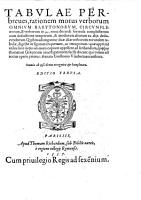 Tabulae perbreves rationem motus verborum     complectentes PDF