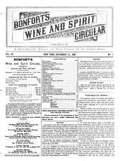 Bonfort's Wine and Spirit Circular: Volume 29