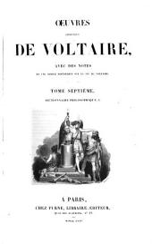 Oeuvres complètes de Voltaire: Dictionnaire philosophique, I