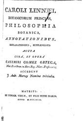 Caroli Linnaei ... Philosophia botanica, annotationibus, explanationibus, supplementis aucta