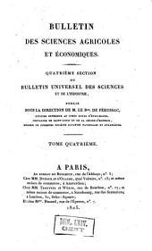 Bulletin universel des sciences et de l'industrie. 4: Bulletin des sciences agricoles et agronomiques, Volume4