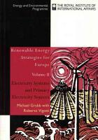Renewable Energy Strategies for Europe  Electricity systems and primary electricity sources PDF