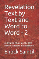 Revelation Text by Text and Word to Word - 2