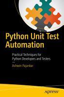 Python Unit Test Automation PDF