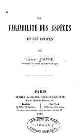 La Variabilité Des Espèces Et Ses Limites