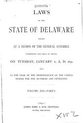 Laws of the State of Delaware: Volume 19, Part 1