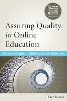 Assuring Quality in Online Education PDF
