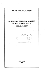 Scheme of Library Service in the Circulation Department