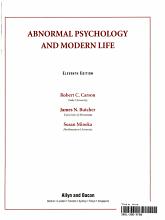 Abnormal Psychology and Modern Life PDF