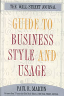 Guide to Business Style and Usage