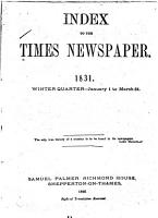 Palmer s Index to  The Times  Newspaper PDF