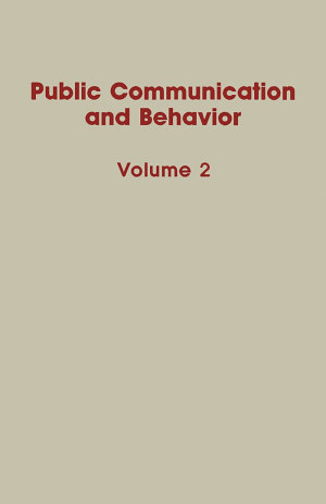 Public Communication and Behavior