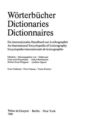Dictionaries PDF
