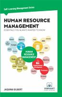 Human Resource Management Essentials You Always Wanted To Know PDF