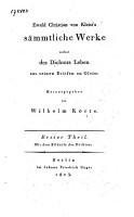 S  mmtliche Werke nebst des Dichters Leben aus seinen Briefen an Gleim PDF