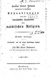 Abhandlungen von den vornehmsten wahrheiten der natürlichen religion