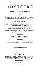 Histoire Critique Et Militaire Des Guerres de la Revolution: Campagne de 1793