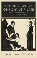 The Innocence of Pontius Pilate Book