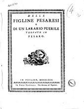 Delle figline pesaresi e di un larario puerile trovato in Pesaro[Annibale degli Abati-Olivieri- Giordani]