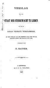 Verslag van den staat der Sterrewacht: Leiden