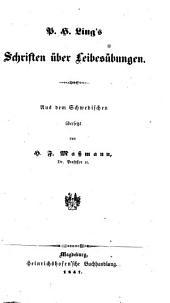 P. H. Ling's Schriften über Leibesübungen