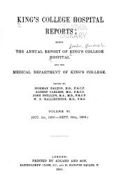King's College Hospital Reports: Volume 6