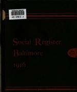 Social Register  Baltimore PDF