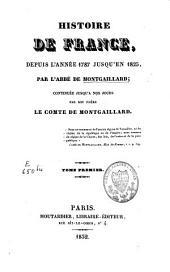 Histoire de France: depuis 1787 à 1825, Volume1
