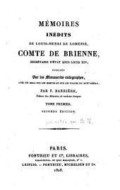 Mémoires inédits de Louis-Henri de Loménie, comte de Brienne
