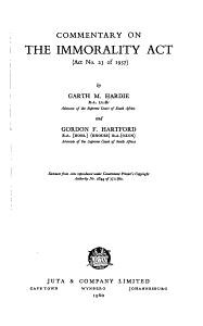 Commentary on the Immorality Act  act No  23 of 1957  PDF