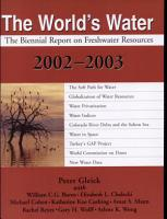 The World s Water 2002 2003 PDF
