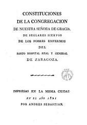 Constituciones de la Congregación de Nuestra Señora de Gracia,de seglares siervos de los pobres enfermos