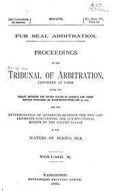 Fur Seal Arbitration: Volumes 10-12