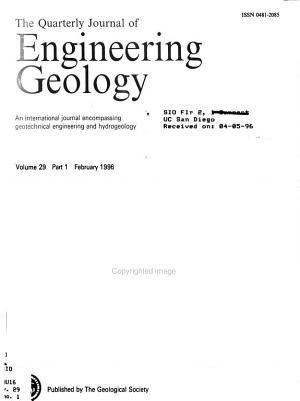 The Quarterly Journal of Engineering Geology PDF