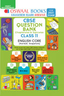 Oswaal CBSE Question Bank Chapterwise & Topicwise Class 11, English Core (For 2021 Exam)