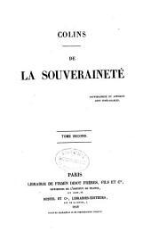 De la souveraineté: Volume2
