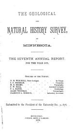 Annual Report - Geological and Natural History Survey of Minnesota: Volume 7